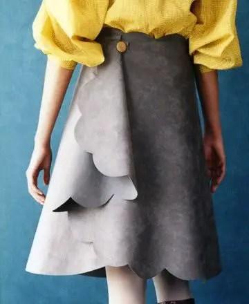 como hacer una falda asimetrica