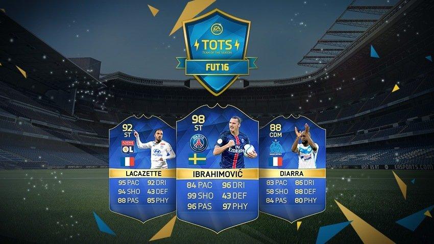 TOTS Ligue 1 y TOTS Serie A - FUT16