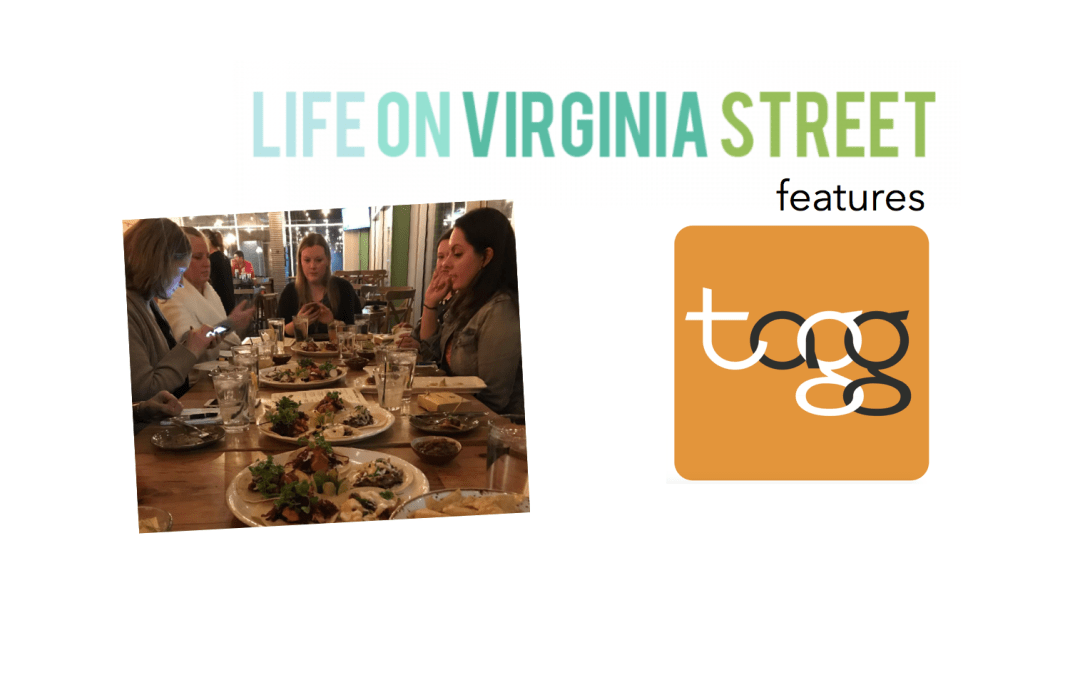 Life on Virginia Street blog features TAGG