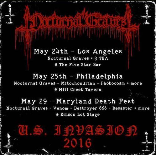 Nocturnal Graves US tour