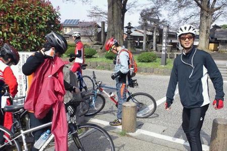 東御市 海野宿 白鳥神社 常盤館自転車部