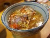 食べ終えた金目鯛で作ってもらったスープ