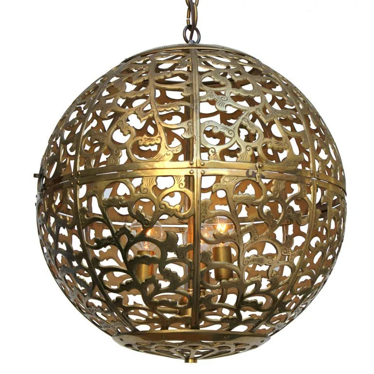 japanese brass globe lantern 1stdibs