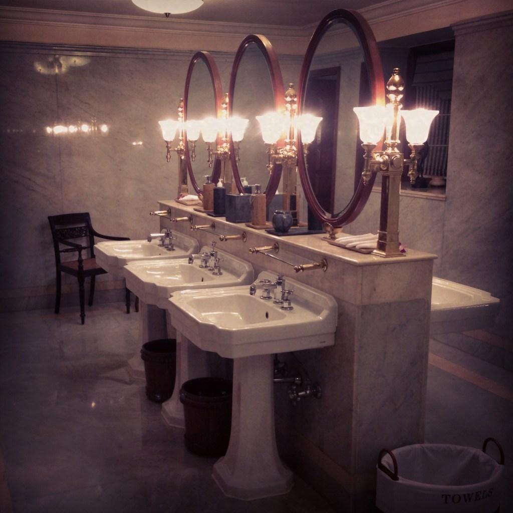 Imperial Hotel New Delhi Ladies Washroom Bathroom marble