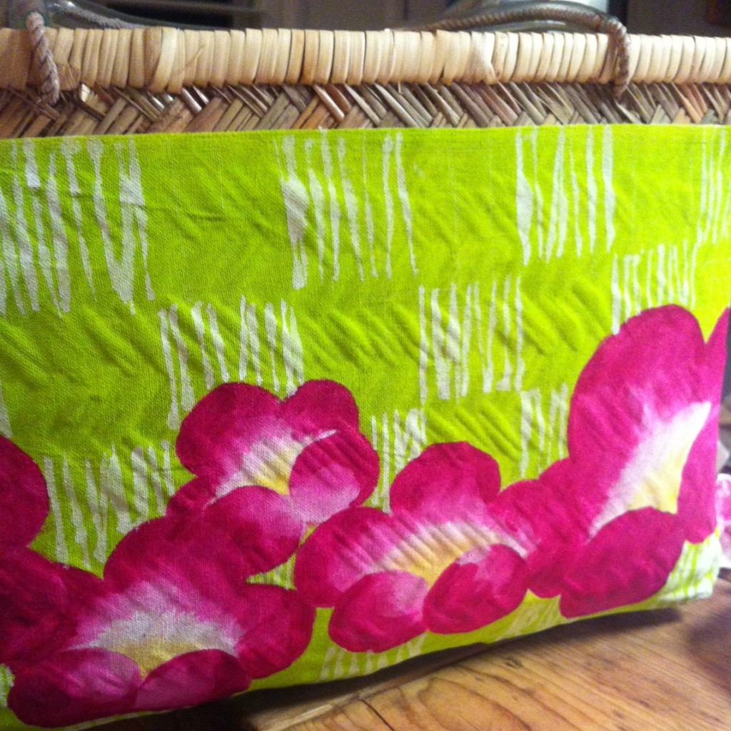 papergluebamboo shopping basket lime ume