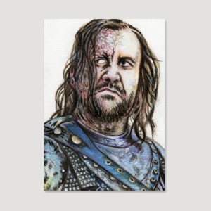 Sandor Clegane Sketch Card by Tom Deacon