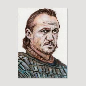 Bronn Sketch Card by Tom Deacon