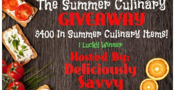 The Summer Culinary Giveaway! 1 Lucky Winner Ends 8/22