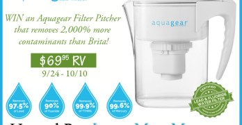 Aquagear Filter Pitcher Giveaway ~ Refresh your Water