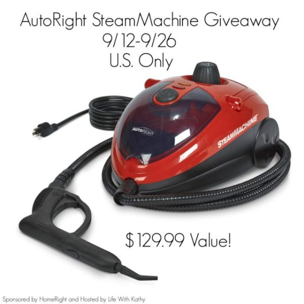 Giveaway for a AutoRight SteamMachine – What do you need to clean?