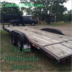 Flatbed trailer for sale www.Cowboy4Sale.com