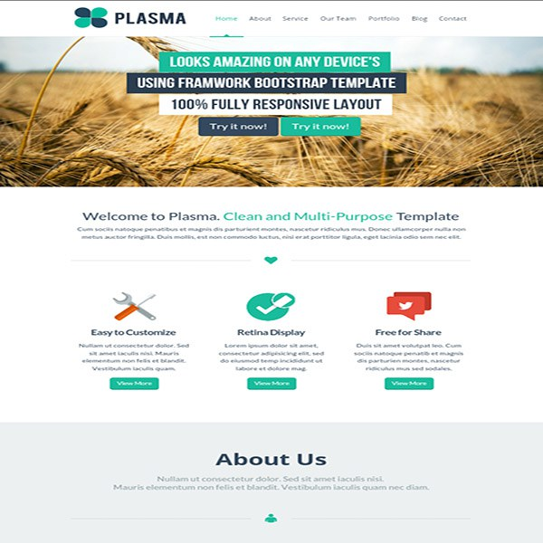 워드프레스 템플릿 | Plasma Template - 테마를 위한 무료 템플릿 worfpress-template-for-theme-build-free-file-july-07