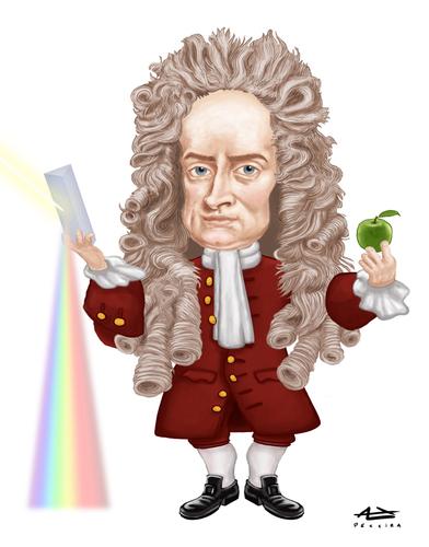 Sir Issac Newton (sumber toonpool.com)