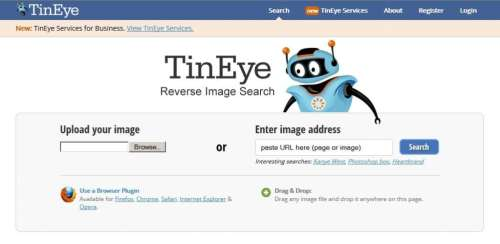 TinEye Reverse Image Search Engine