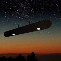 Black Cigar Shaped UFO Over Colorado