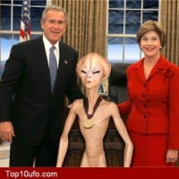 President And First Lady With Alien
