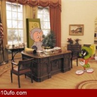 Porky Pig And Marvin The Martian In The Oval Office