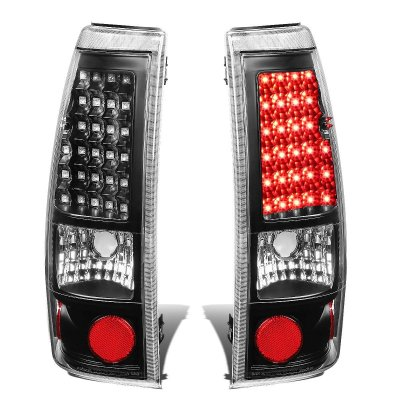GMC Sierra 2500HD 2001 2006 Black LED Tail Lights   A135G4VC109     GMC Sierra 2500HD 2001 2006 Black LED Tail Lights