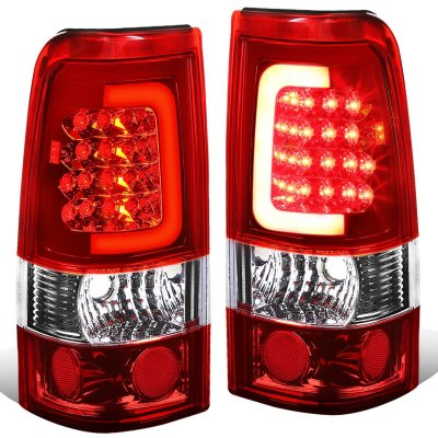 GMC Sierra 2500HD 2001 2006 LED Tail Lights Red Tube   A135L4AK109     GMC Sierra 2500HD 2001 2006 LED Tail Lights Red Tube