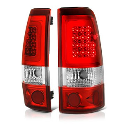 GMC Sierra 2500HD 2001 2006 Red LED Tail Lights Tube   A1355Y5C109     GMC Sierra 2500HD 2001 2006 Red LED Tail Lights Tube