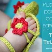 Baby Flower Power sandaler af Naomi