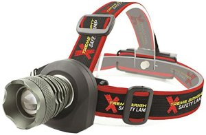 Xtreme Bright Safety Headlamp, Red Flashing Light on Back. Perfect Automotive Spot Light, Great Addition To Camping & Hiking Equipment. Ideal Reliable LED Fl
