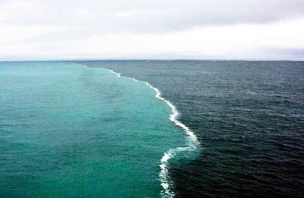 Seas not mingling with One Another..