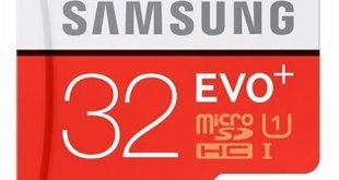 10. Samsung 32GB EVO Plus Class 10 Micro SDHC with Adapter