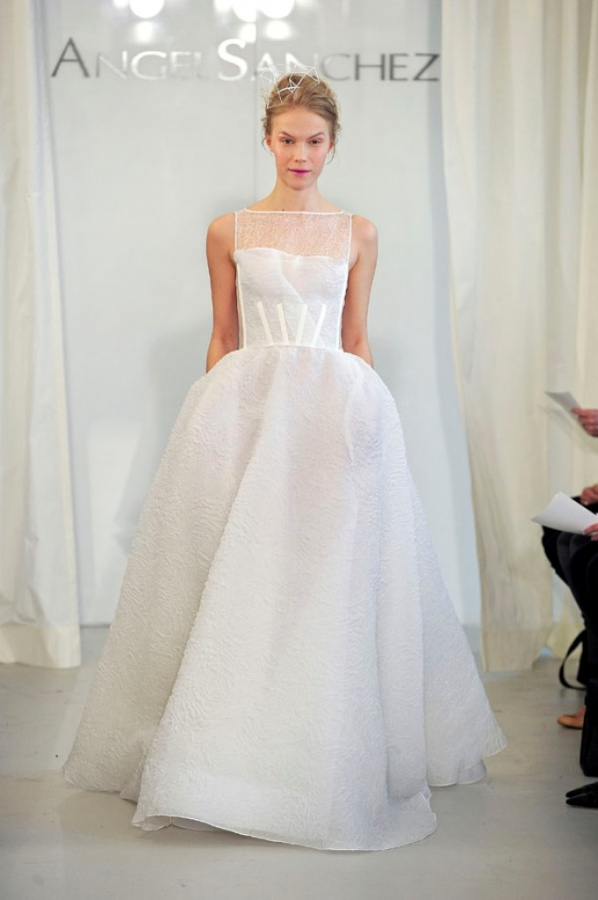 Top 8 Wedding Dress Brands : Angel sanchez spring bridalmarket