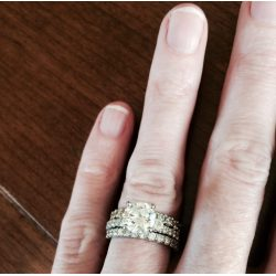 Small Crop Of Engagement Ring Finger