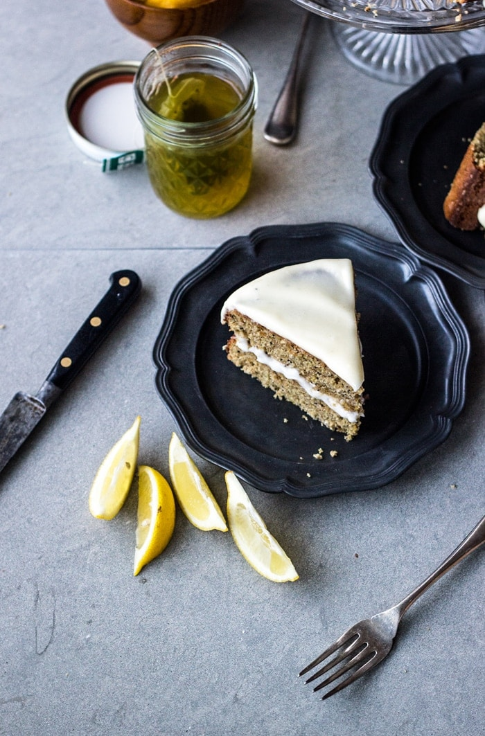 Wholegrain Lemon Poppy Seed Layer Cake