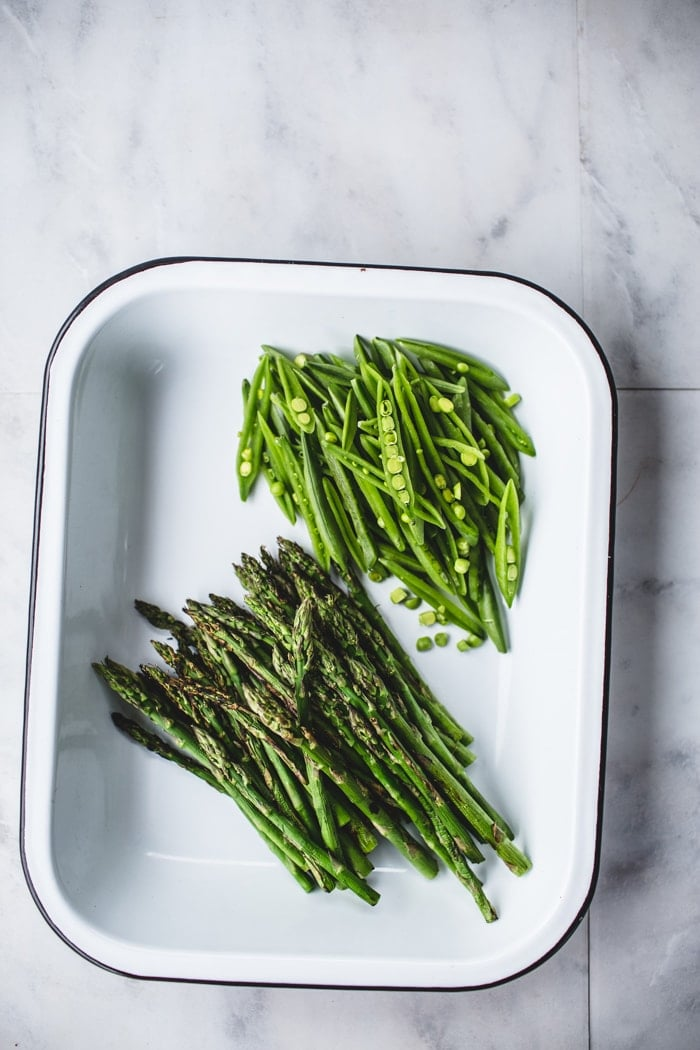 Griddled Asparagus and Sugar Snap Peas