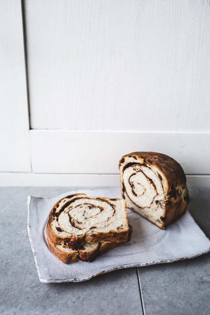 Pecan-Raisin Cinnamon Swirl Bread {Vegan}