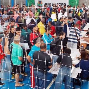 Ginásio da Secretaria de Esporte e Lazer na entrega das fichas da Copa Prefeitura Bahamas de Futebol Amador 2015