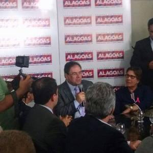 Vice-governador de Alagoas, Luciano Barbosa, reafirma o compromisso de ajuda financeira ao ASA (Foto: Cláudio Barbosa)