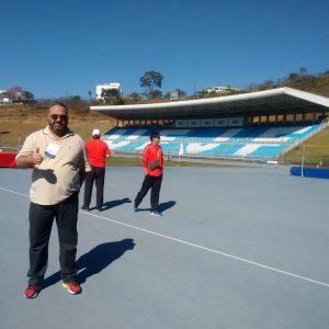 Heglison Toledo está vibrando com a oportunidade vivida pela UFJF e pela cidade com a presença das delegações olímpicas  estrangeiras