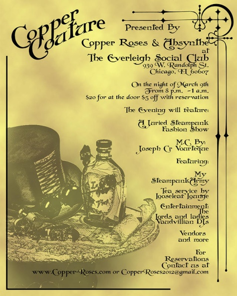 Steampunk Events for March 2013