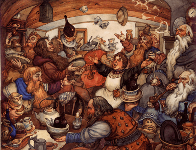 The Hobbit as depicted in art over the decades