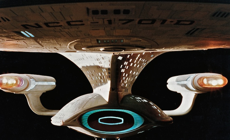 A close-up of one of the shooting models of the ENTERPRISE (Photo credit: Eric Alba.)