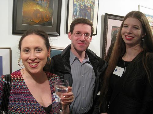 Editor Diana Fox, Charles Adai (Hard Case Crime), and Liz Gorinsky