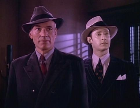 Picard and Data on the holodeck