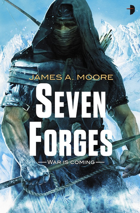Cover Art James A Moore Seven Forges Alejandro Colucci