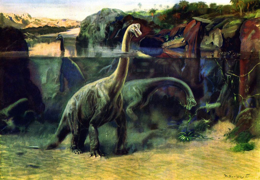 Zdenek Burian Brontosaurus
