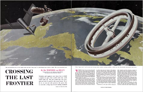 Collier's spread, Chesley Bonestell