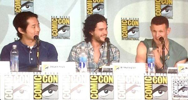 Matt Smith Kit Harrington SDCC 2013 Steven Yeun