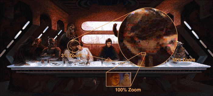 Star Wars Last Supper mosaic