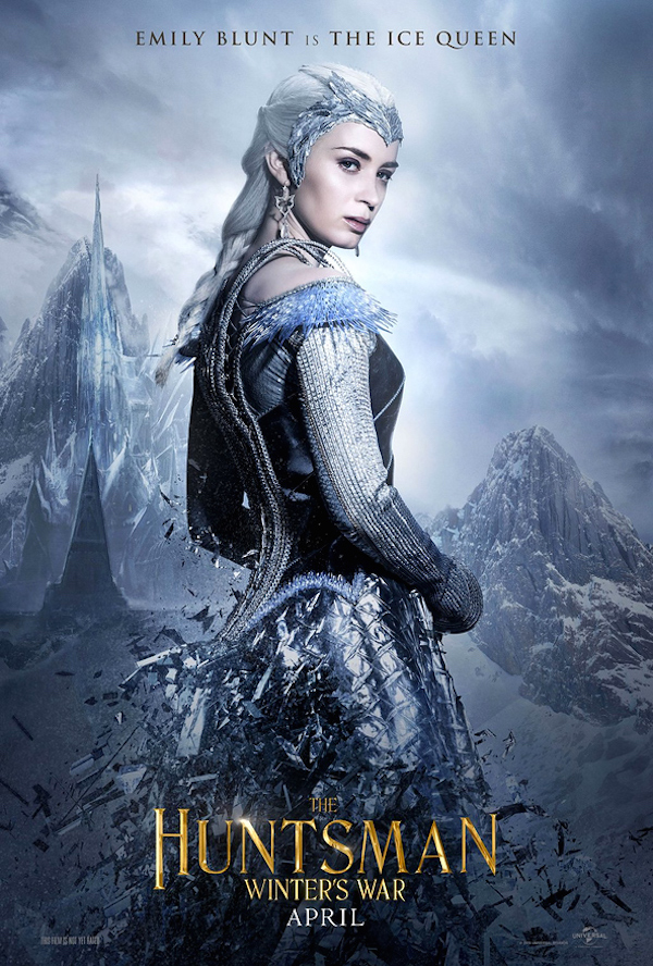 The Huntsman: Winter's War character posters teaser Snow White sequel Emily Blunt