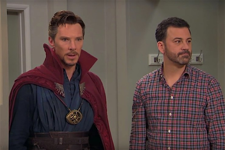 Doctor Strange attends a birthday party