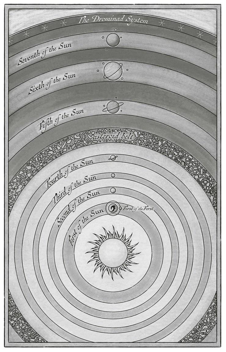 Drominad star chart Arcanum Unbounded