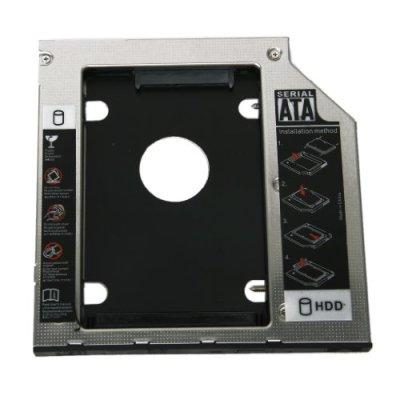 Generic – Caja para segundo disco duro interno de repuesto universal (SATA, 9,5 mm)